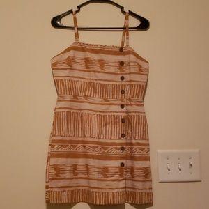 NWT Mustard Linen Mini Dress